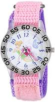 Disney Girl's 'Tinker Bell' Quartz Plastic and Nylon Casual Watch, Color:Pink (Model: WDS000106)
