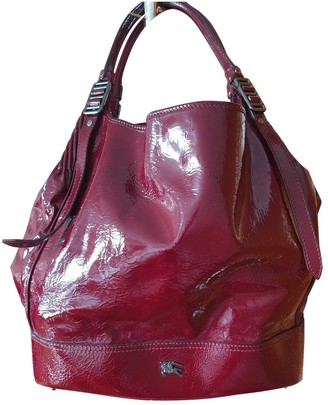 Burberry The Bucket Burgundy Patent leather Handbags