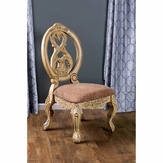 Astoria Grand Duerr Queen Anne Back Side Chair Color: Antique White