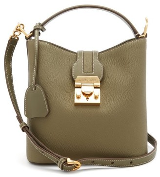 Mark Cross Murphy Small Leather Cross-body Bag - Green Multi