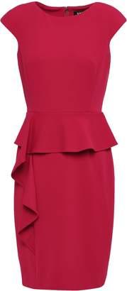 DKNY Ruffled Crepe Peplum Dress