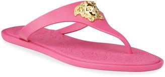 Versace Medusa Flat Slide Thong Sandals