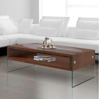 Orren Ellis Las Ventanas Coffee Table Table Top Color: Walnut