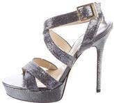 Jimmy Choo Glittered Platform Sandals