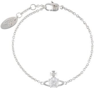 Vivienne Westwood Crystal Logo Charm Bracelet