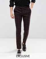 Noose & Monkey Tapered Pants In Check