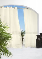 Outdoor Decor Escape 54 by 96-Inch Voile Grommet Top Panel, Ivory