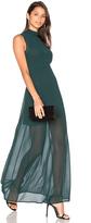 Line & Dot Rima Highneck Maxi Dress