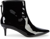 Saks Fifth Avenue Dina Patent Kitten-Heel Booties