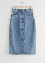 Thumbnail for your product : And other stories Fitted Denim Midi Skirt