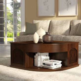 Red Barrel Studioâ® Weidler Double Lift Top Coffee Table with Tray Top Red Barrel StudioA