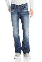 Buffalo David Bitton Men's King Slim Boot Cut Jean In Washed and Torn