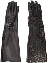Perrin Paris leopard print gloves