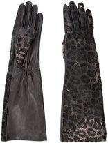 Perrin Paris leopard print gloves