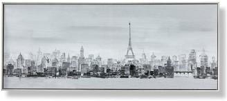 Graham & Brown Bonne Nuit Paris Framed Printed Canvas With Handpaint Detail