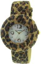 Vernier Women's VNR11046 Round Exotic Strap Fashion Watch