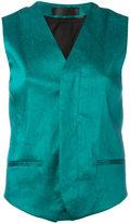 Haider Ackermann wrap waistcoat - women - Cotton/Rayon/Linen/Flax/Spandex/Elastane - 36