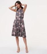 LOFT Floral Ruffle Back Dress