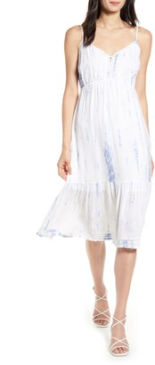Rails Delilah Openwork Linen Blend Midi Dress