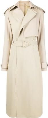Bottega Veneta Leather Trench Coat