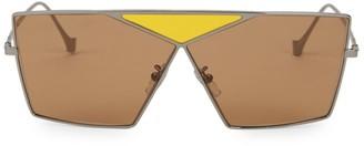 Loewe Triangle 69MM Metal Sunglasses