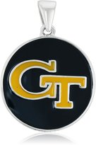 Persona Sterling Silver Georgia Tech Yellow GT on Blue Pendant Charm
