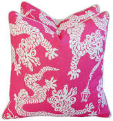 one kings lane vintage lee jofa lilly pulitzer pillows