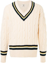 Kent & Curwen chunky knit V-neck jumper