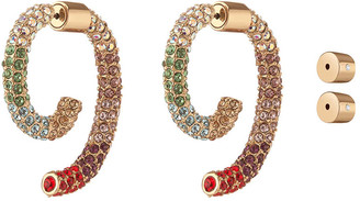 DEMARSON Multicolor Pave Luna Earrings