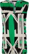 Jaeger Jersey Graphic Brushstroke Top