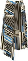 Izabel London *Izabel London Multicoloured Striped Asymmetric Skirt