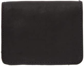 Guidi Black Small Kangaroo Zipped Wallet