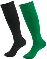 Fasoar Men's Women Athletic Over the Knee High Boot Tube Socks Pack of 2 Red 2 pack red