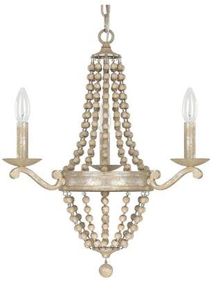 Capital Lighting Fixture Co. Capital Lighting 4443SQ-000 Adele 3-Light Chandelier, Silver Quartz