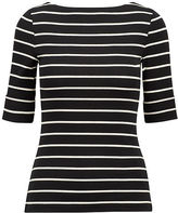 Ralph Lauren Striped Cotton Bateau Tee