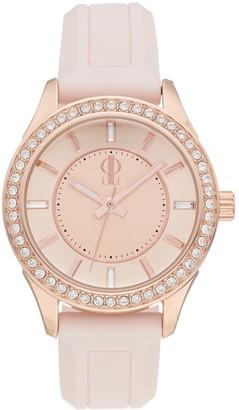 JLO by Jennifer Lopez Women's Crystal Silicone Watch