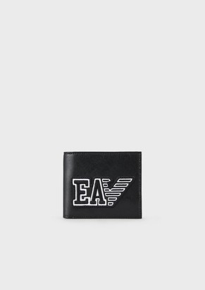 Emporio Armani Travel Essential Leather Wallet With Logo Patch