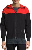 Rag & Bone Colorblocked Fleece Hoodie