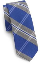 Original Penguin Horcoff Plaid Silk & Cotton Tie