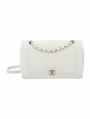 Chanel Bi Quilted Flap Bag White