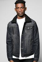 Boohoo Borg Collar Denim Jacket