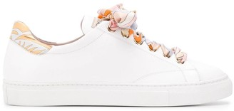 Emilio Pucci Ribbon Lace-up Twill Trainers
