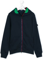 Ai Riders On The Storm Kids - printed hood jacket - kids - Cotton - 14 yrs