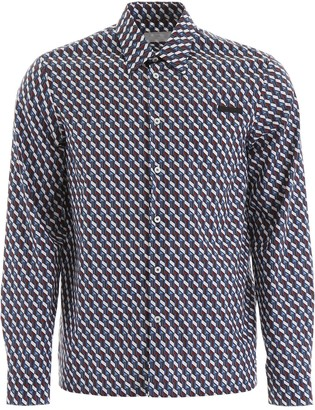 Prada Geometric Printed Shirt