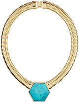 Fragments for Neiman Marcus Howlite Hexagon Collar Necklace, Turquoise
