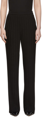Victoria Victoria Beckham Black Crepe Pleated Lounge Pants