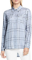 Vince Camuto Long Sleeve Wistful Plaid Collared Utility Shirt