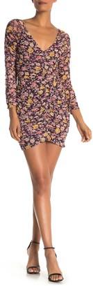 Free Press Mesh Ruched Mini Dress