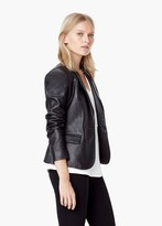 Mango Outlet Leather Blazer