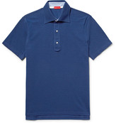 Isaia Cotton-piqué Polo Shirt - Cobalt blue